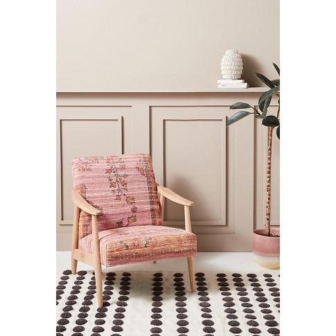 Alaris Rug-Printed Armchair - Pink