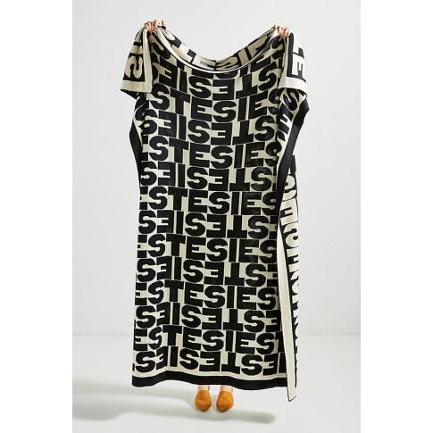 Clare V. For Anthropologie Sieste Throw Blanket - Black