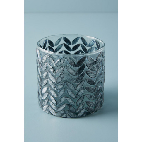 Capiz Candle Holder - Grey