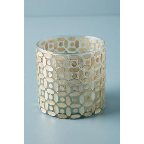 Capiz Candle Holder - Gold