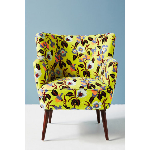 Anthropologie X Delpozo Petite Accent Chair - Green