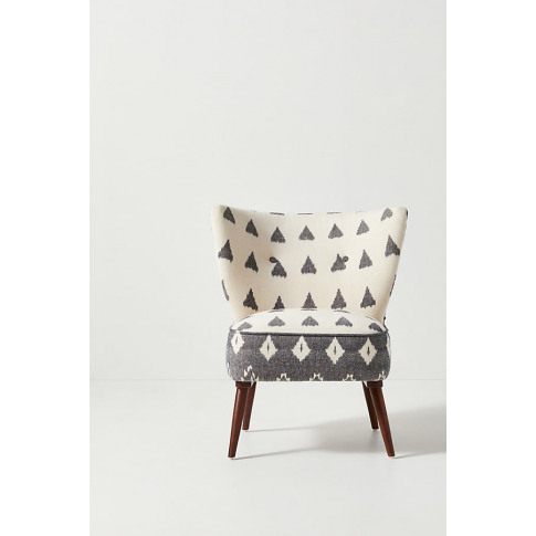 Woven Ikat Petite Accent Chair
