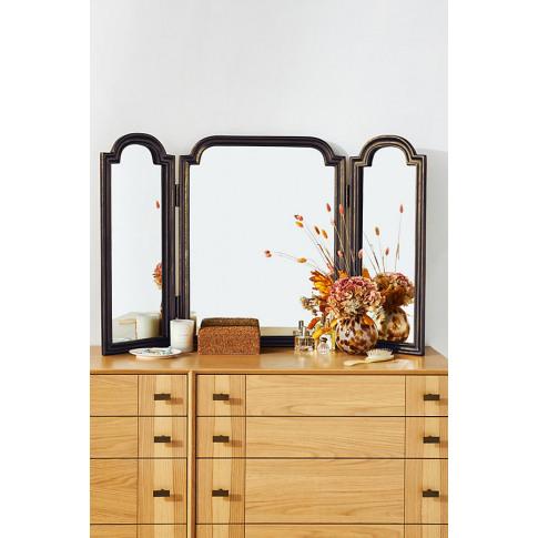 Aperture Triptych Vanity Mirror
