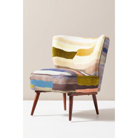 Vivie Patchwork Petite Accent Chair