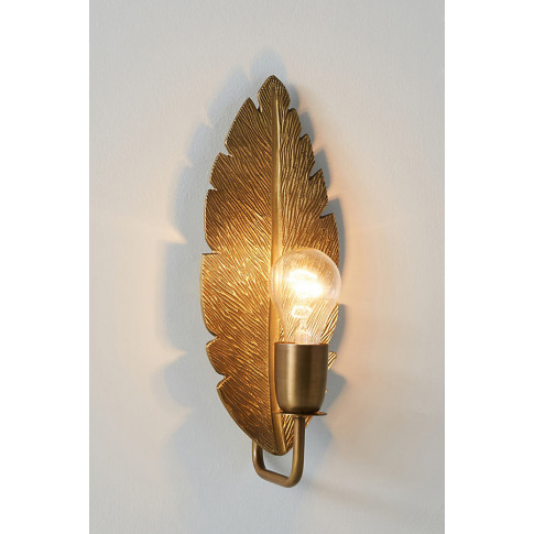 Quill Feather Wall Light