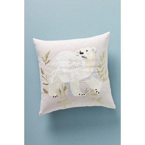 Karen Nicol Embroidered Wintertime Cushion