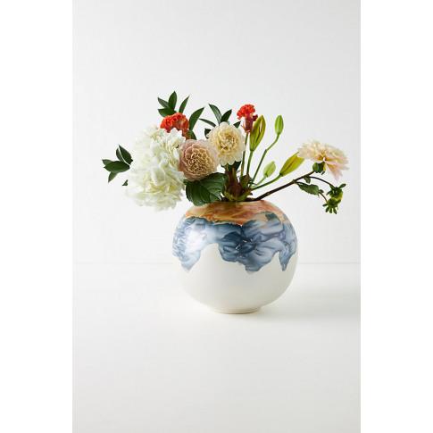 Minetta Marbled Round Vase