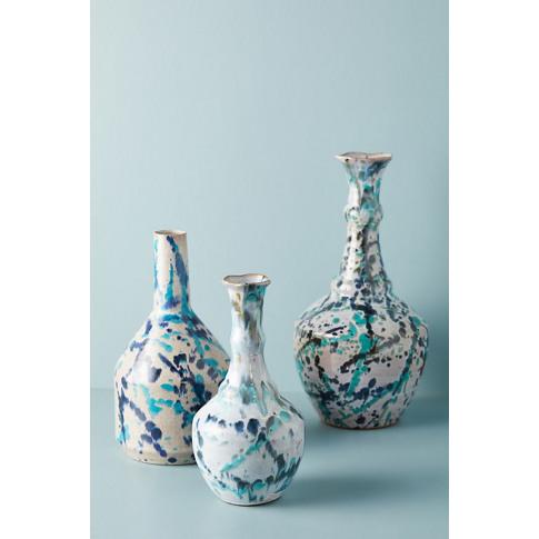 Paint Splattered Medium Vase