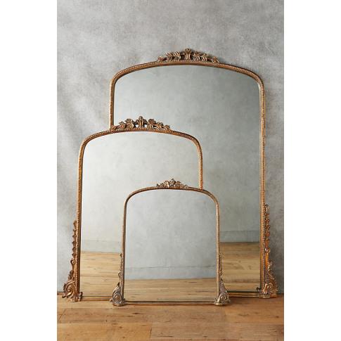 Gleaming Primrose Mirror - Brass