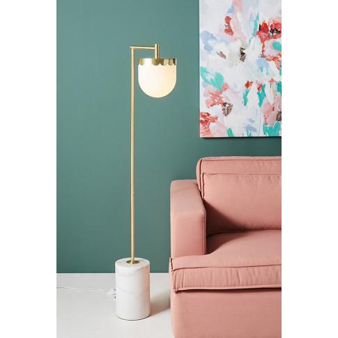 Alana Floor Lamp - Brown, Size L
