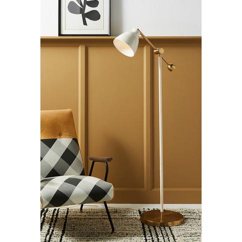 Raine Floor Lamp - White, Size M