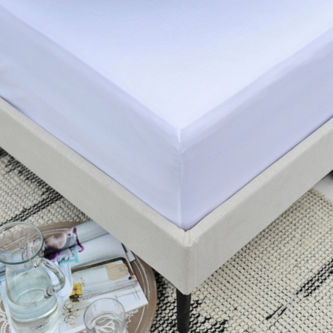 Double White Fitted Sheet