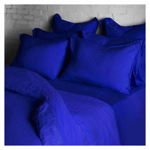 Linen Duvet Cover Double Workwear Blue