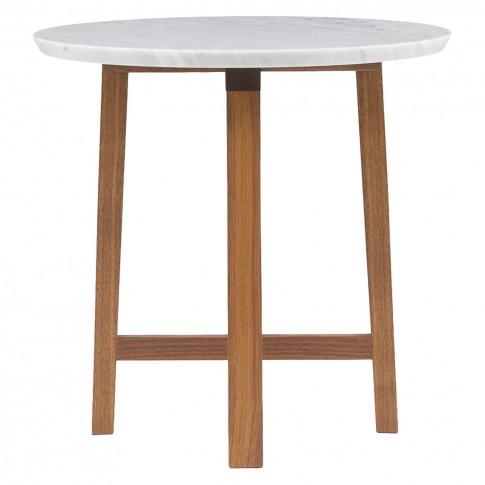 754SM Trio Side Table Marble & Walnut