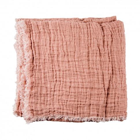 Crumpled Linen Bedspread Nude