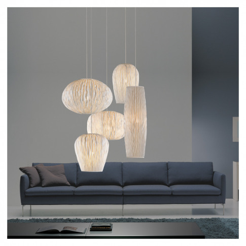 Coral Chandelier 5 White