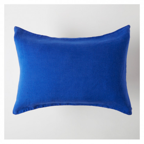 Linen Cushion Cover Workwear Blue 50cm X 40cm