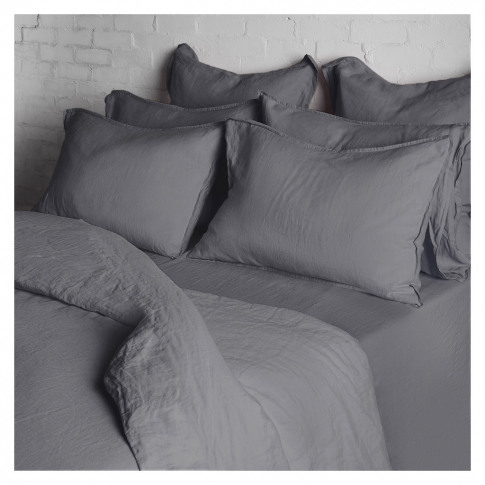 Linen Duvet Cover Super King Size Slate