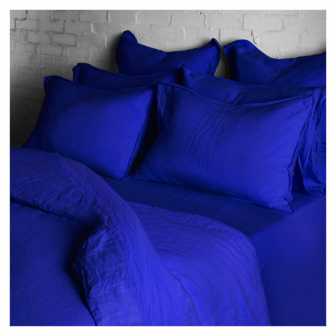 Linen Duvet Cover Single Workwear Blue