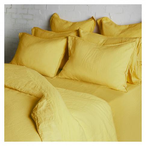 Linen Duvet Cover King Size Ochre