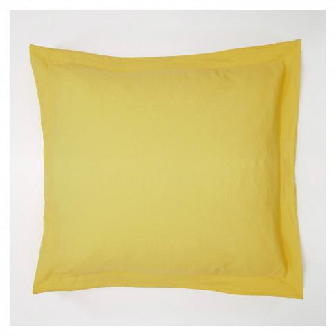 Linen Oxford Pillowcase Ochre