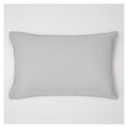 Linen Pillowcase Blue Grey