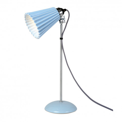 Hector Pleat Table Lamp Light Blue Medium