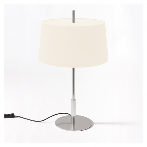 Diana Table Light Satin Nickel Base White Shade