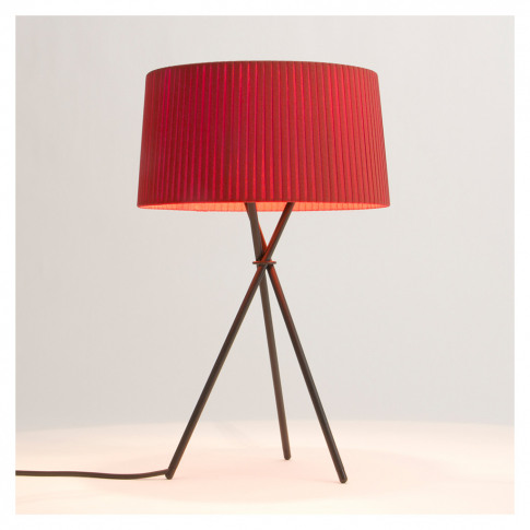 Tripode M3 Table Lamp Black Base Red Amber Shade