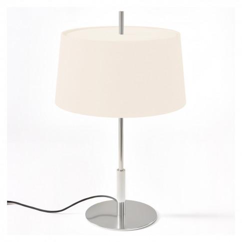 Diana Menor Table Light Satin Nickel Base White Shade
