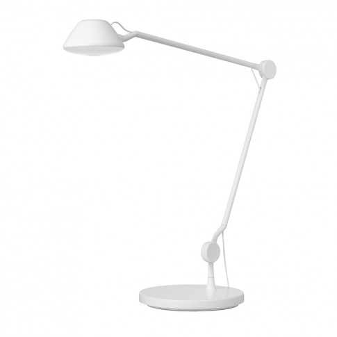 Aq01 Desk Lamp White Matt Lacquer