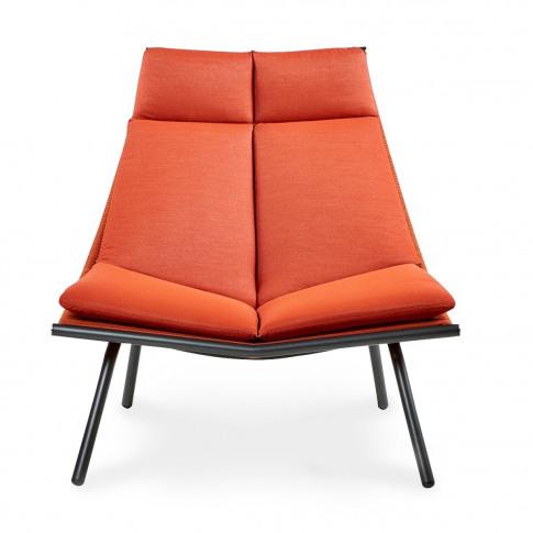 LAZE 002 Lounge Chair Smoke & Orange