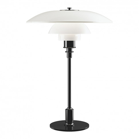 Ph 3½-2½ Glass Table Lamp Black