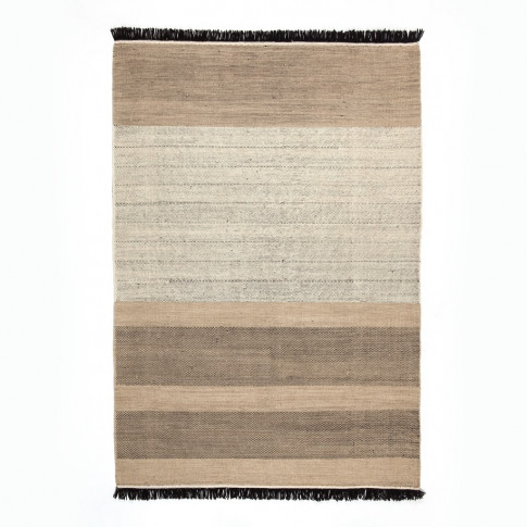 Black Tres Stripe Rug Collection