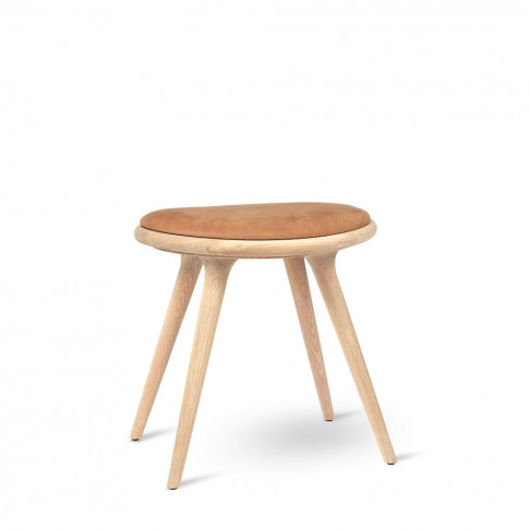 Low Stool Soaped Oak & Leather