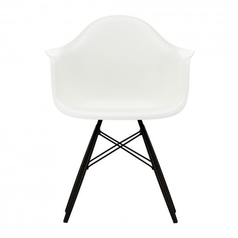 Daw Plastic Armchair Black Maple Base