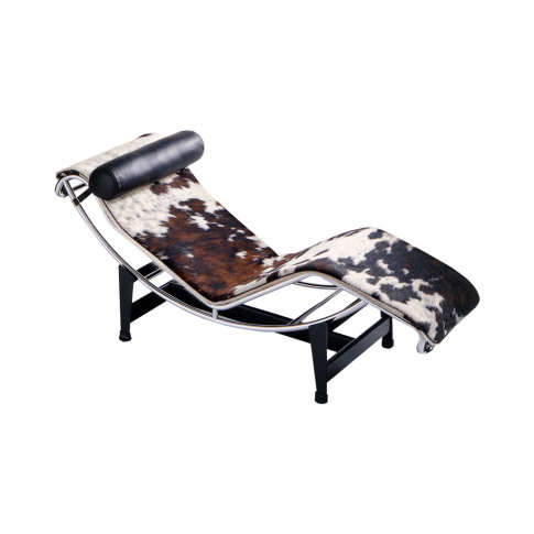 Lc4 Chaise Longue Hairy Hide & Leather