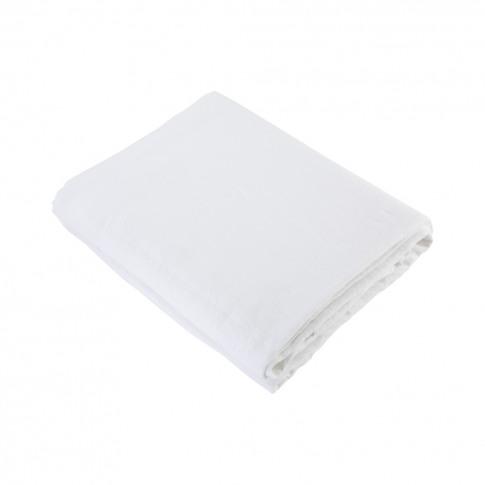 Linen Duvet Cover Double White