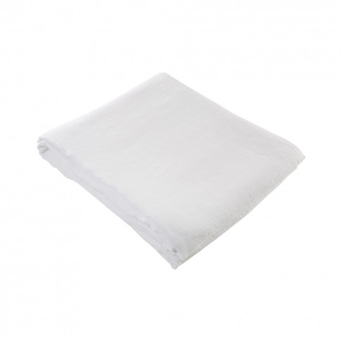 Linen Duvet Cover Super King Size White