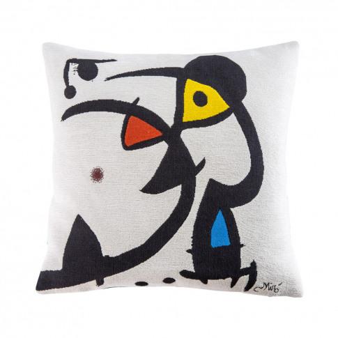 Miró 'White' Cushion Cover 45cm X 45cm