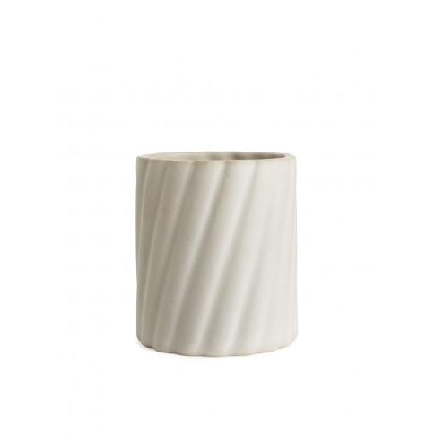 Stoneware Flower Pot 11 Cm - White