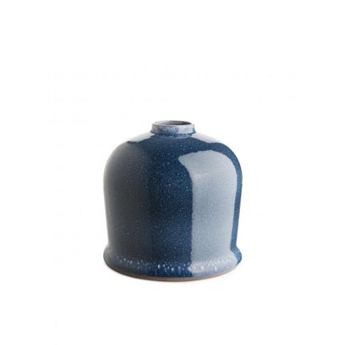 Glazed Vase 15 Cm - Blue