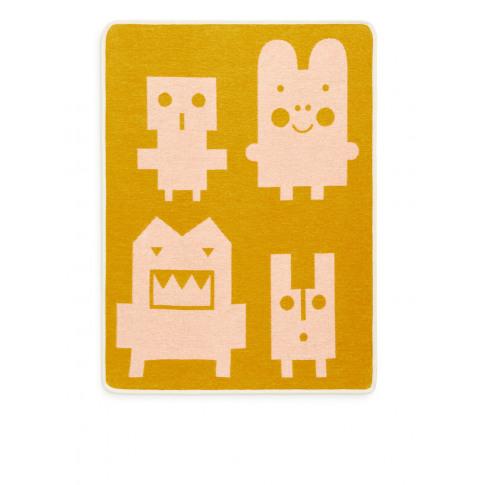 Klippan Monsters Cotton Blanket - Yellow