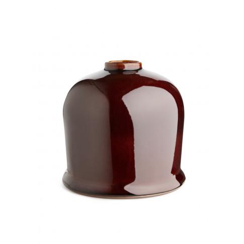Glazed Vase 15 Cm - Red