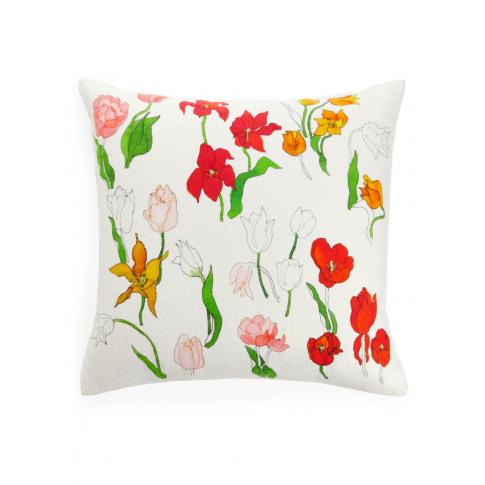 Linen Cushion Cover 50 X 50 Cm - Orange