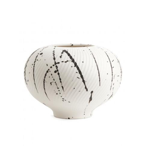 Textured Ceramic Vase - Orange