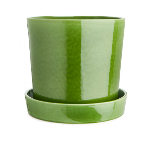 Terracotta Flower Pot 22 Cm - Green