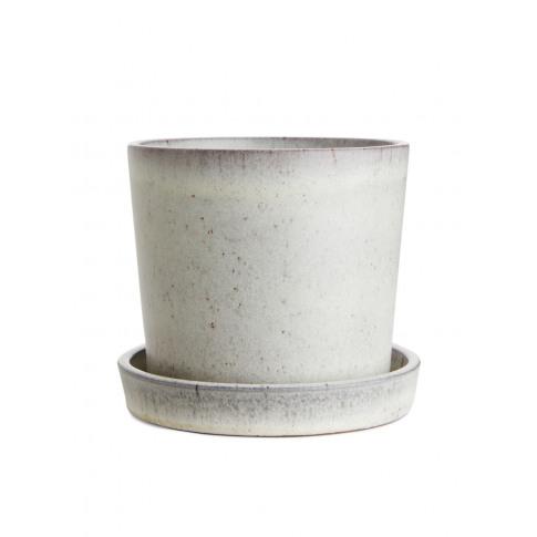 Terracotta Flower Pot 12 Cm - White