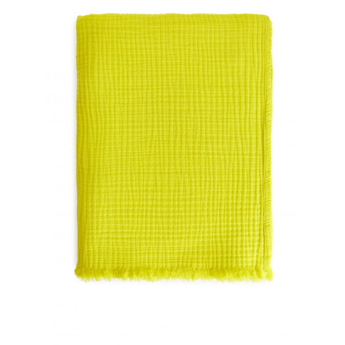 Woven Cotton Blanket - Yellow