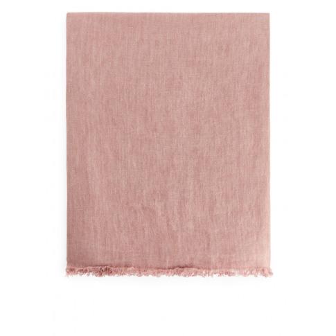 Linen Blanket 170 X 130 Cm - Pink